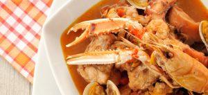 zuppa di pesce surgelata