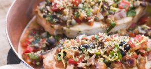 Pesce spada al forno siciliana